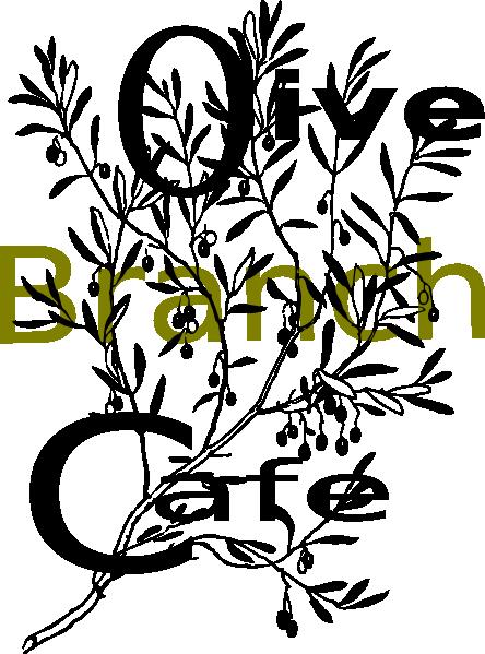444x599 Olive Branch Cafe Clip Art