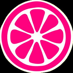 297x297 Lemon Slice ( Pink ) Clip Art
