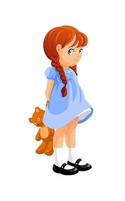 250x400 Clip Art Little Girl Clipart