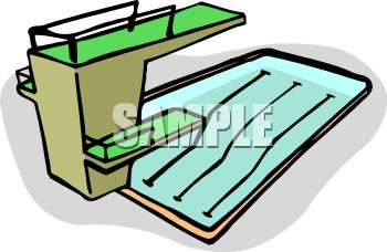 350x228 Royalty Free Clip Art Image Competition Size Pool With A High Dive