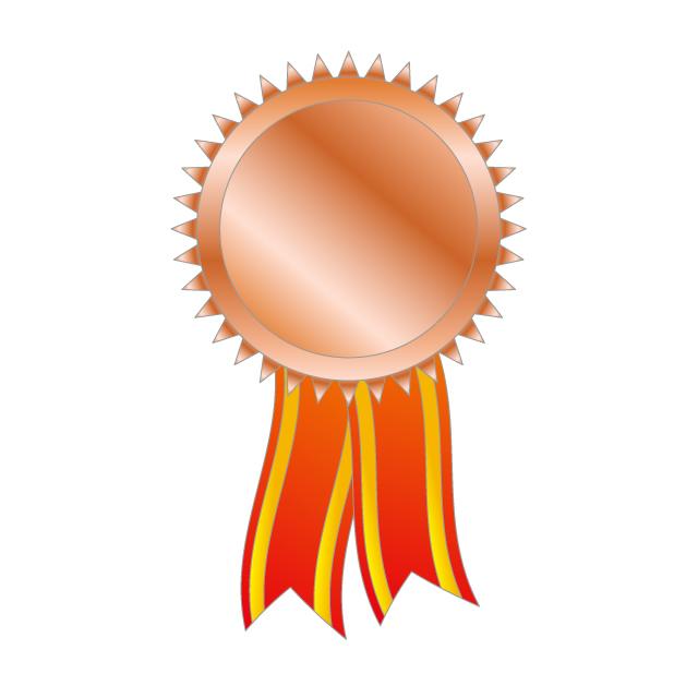 640x640 Bronze Medal 3rd Place Copper Color Ribbon Sports Festival