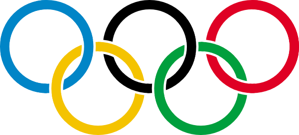 600x272 Olympic Rings Clip Art Free Vector 4vector