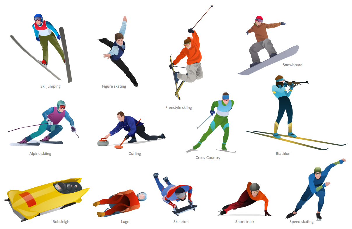 1207x787 Olympic Sports Clip Art