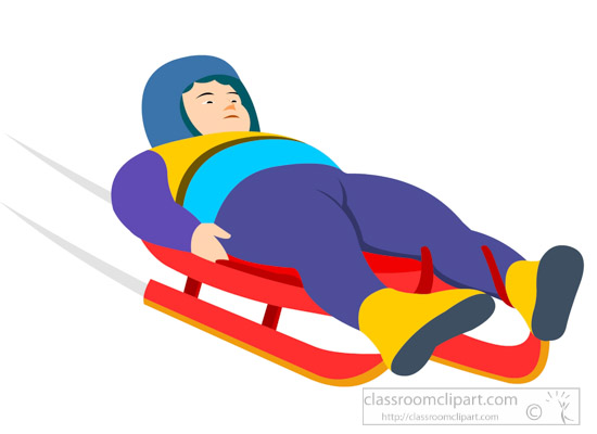 550x400 Winter Sports Clipart Clipart Man On Luge Winter Olympics Sports