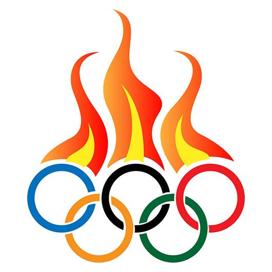 530x530 Logo Design Olympic Flame Inspired Logo Design Places To Visit