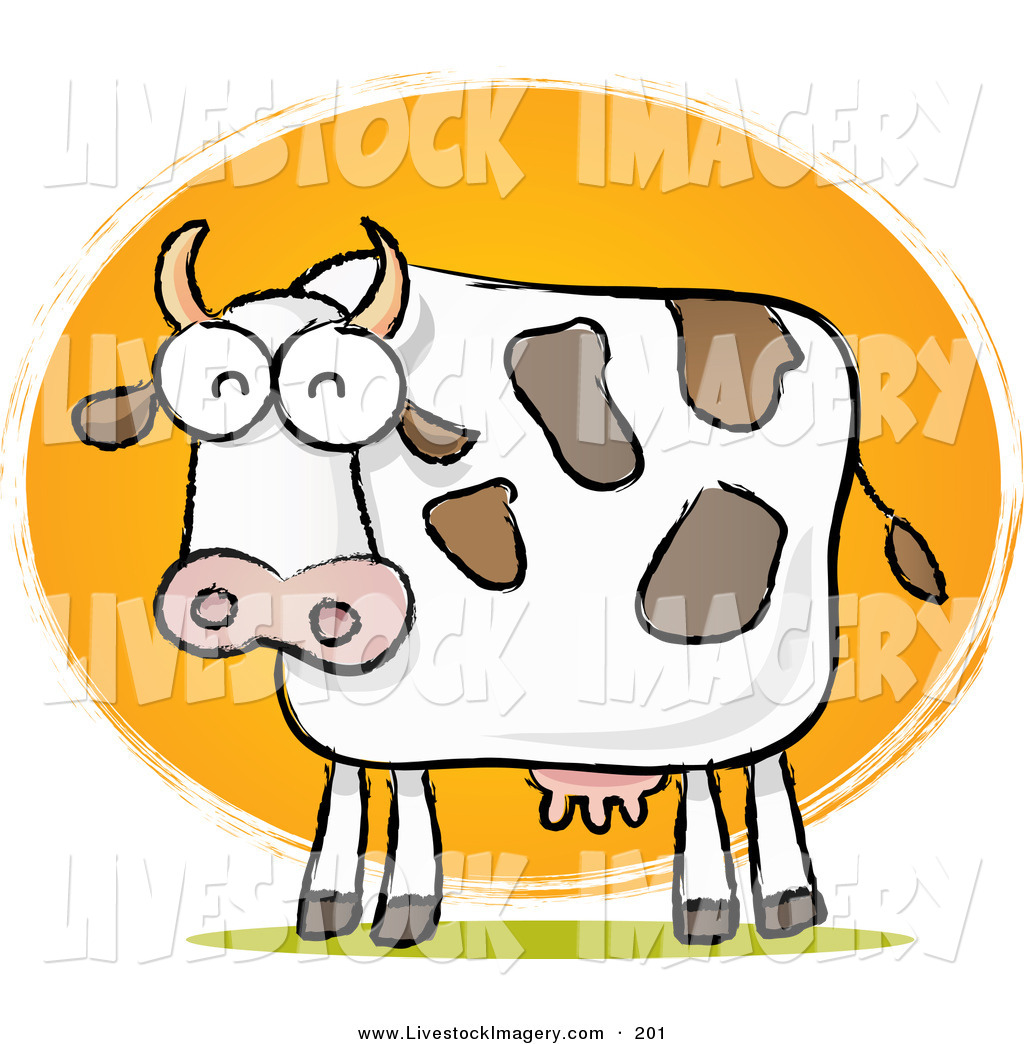 1024x1044 Clip Art Of A Chubby Dairy Cow Sketch In Front Of Sun On