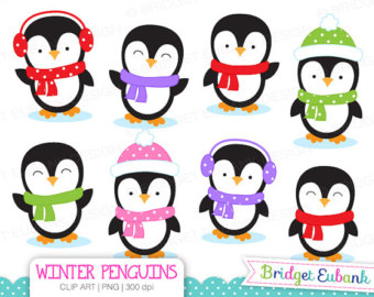 340x270 Penguin Clipart Winter Penguin Wonderland Digital Clipart