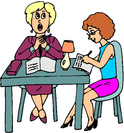 490x525 One On One Meeting Clipart