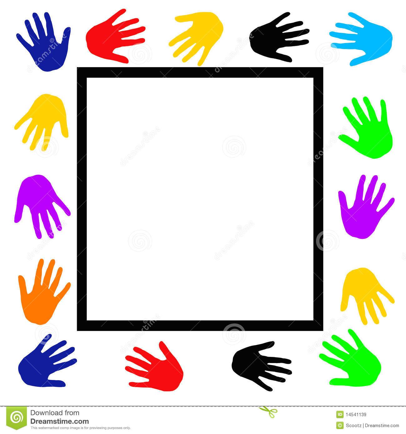 1300x1390 Hand Border Clip Art Handprint Clipart Frame 8