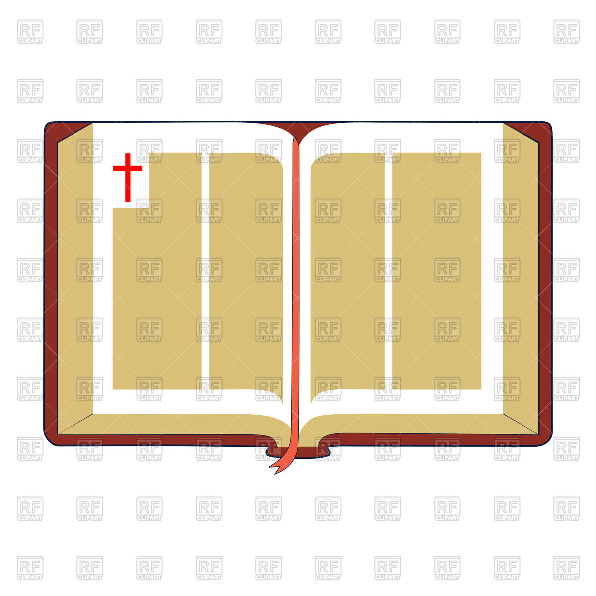 1200x1200 Open Bible With Brown Cover And Red Bookmark Royalty Free Vector