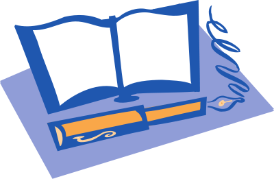 400x261 Free Open Book Clipart