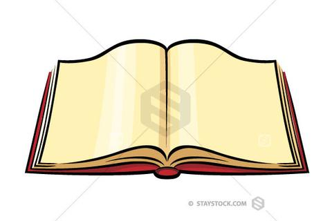 480x320 Open Book Color Clipart Staystock
