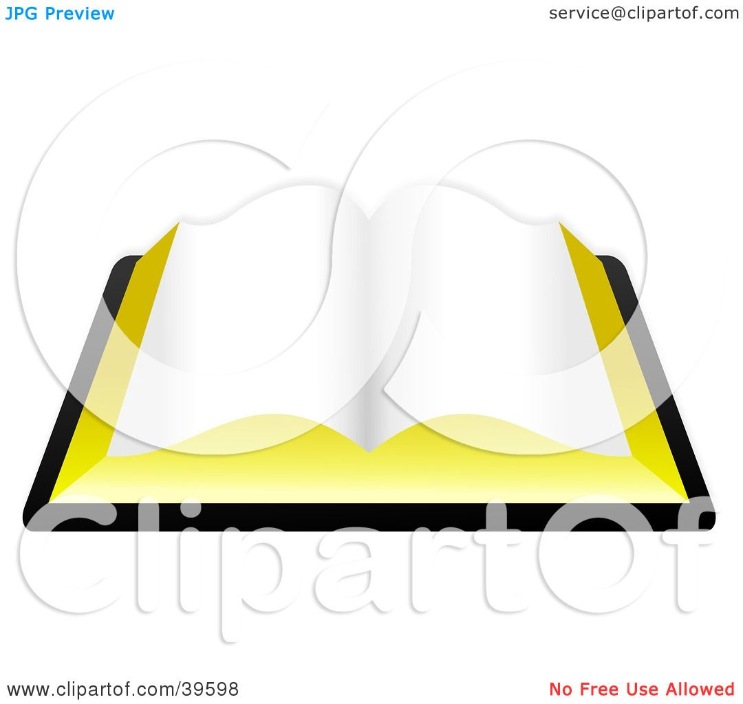 1080x1024 Clipart Illustration Of A Blank Open Book, Or The Holy Bible By