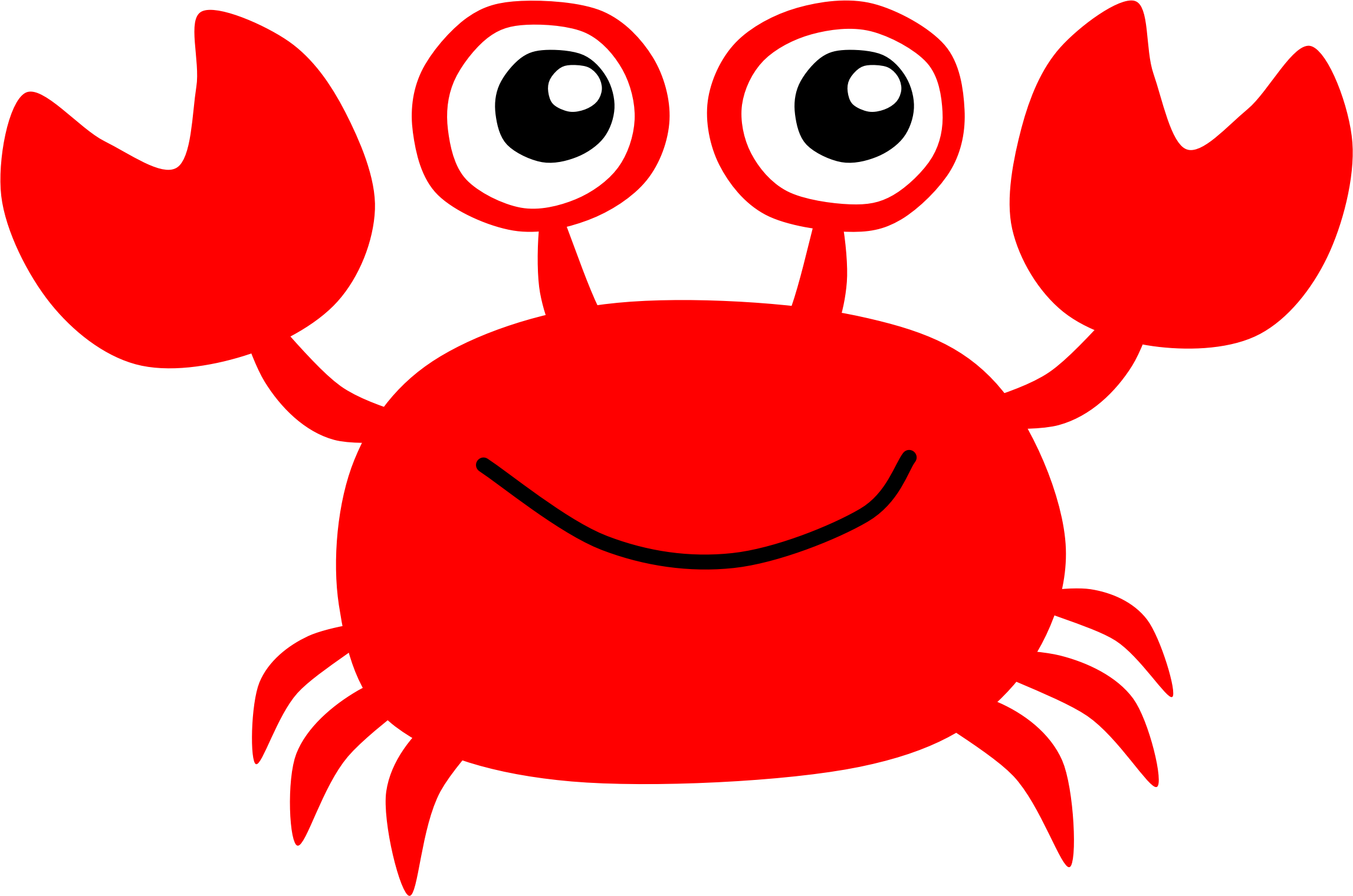 2294x1521 Red Crab By @scout, A Clipart Of Cute Red Crab., On @openclipart