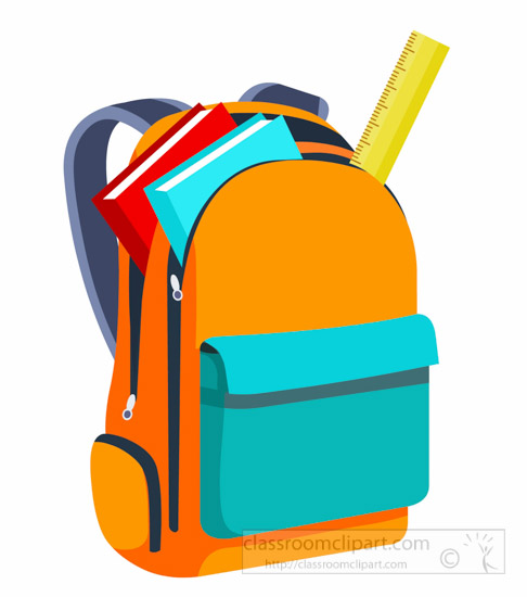 486x550 School Graphics Clip Art Books And Scale Inside Open Backpack Back