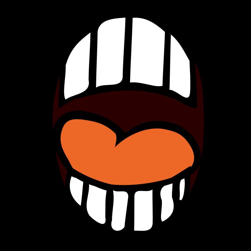 800x800 Free Clipart Open Mouth Nicubunu