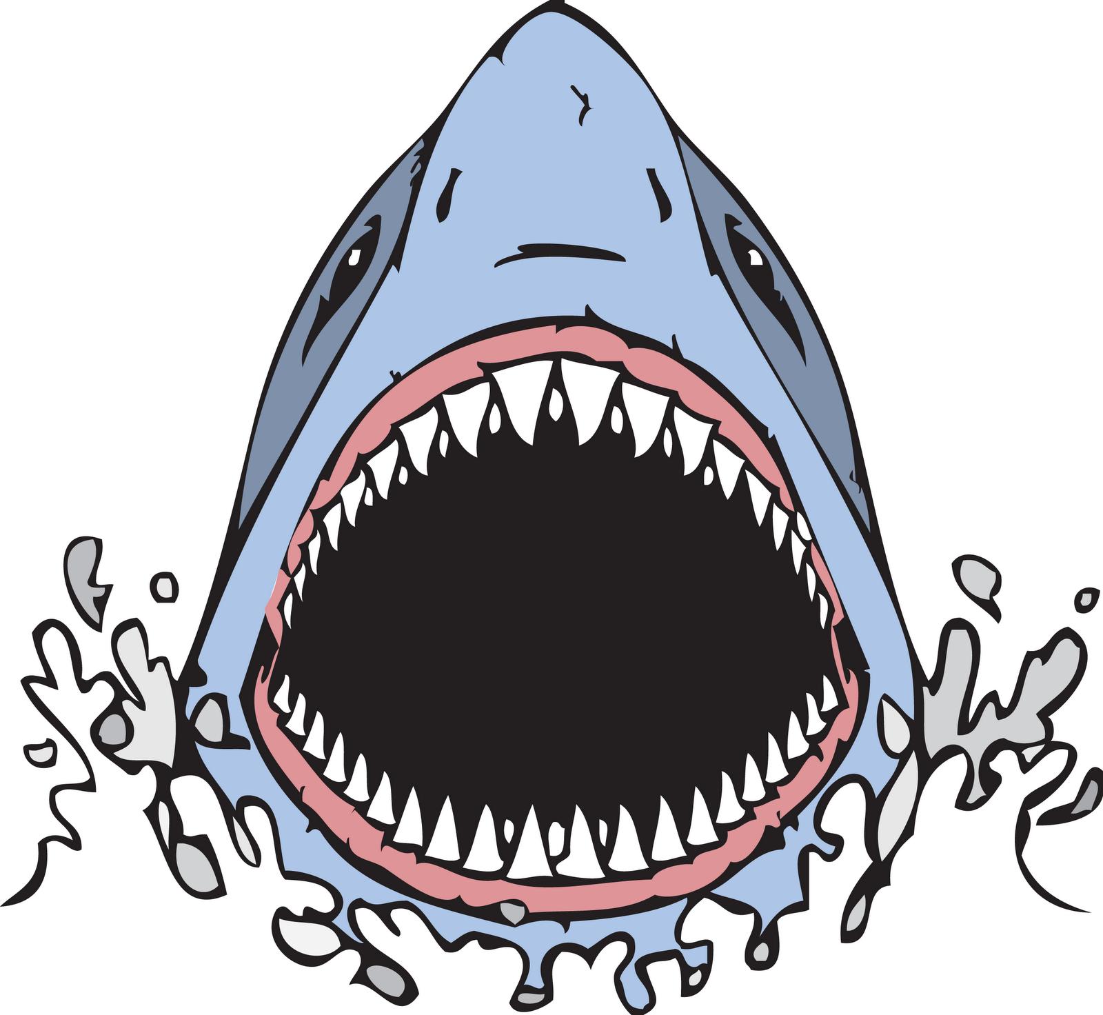 1600x1472 Shark Open Mouth Clip Art