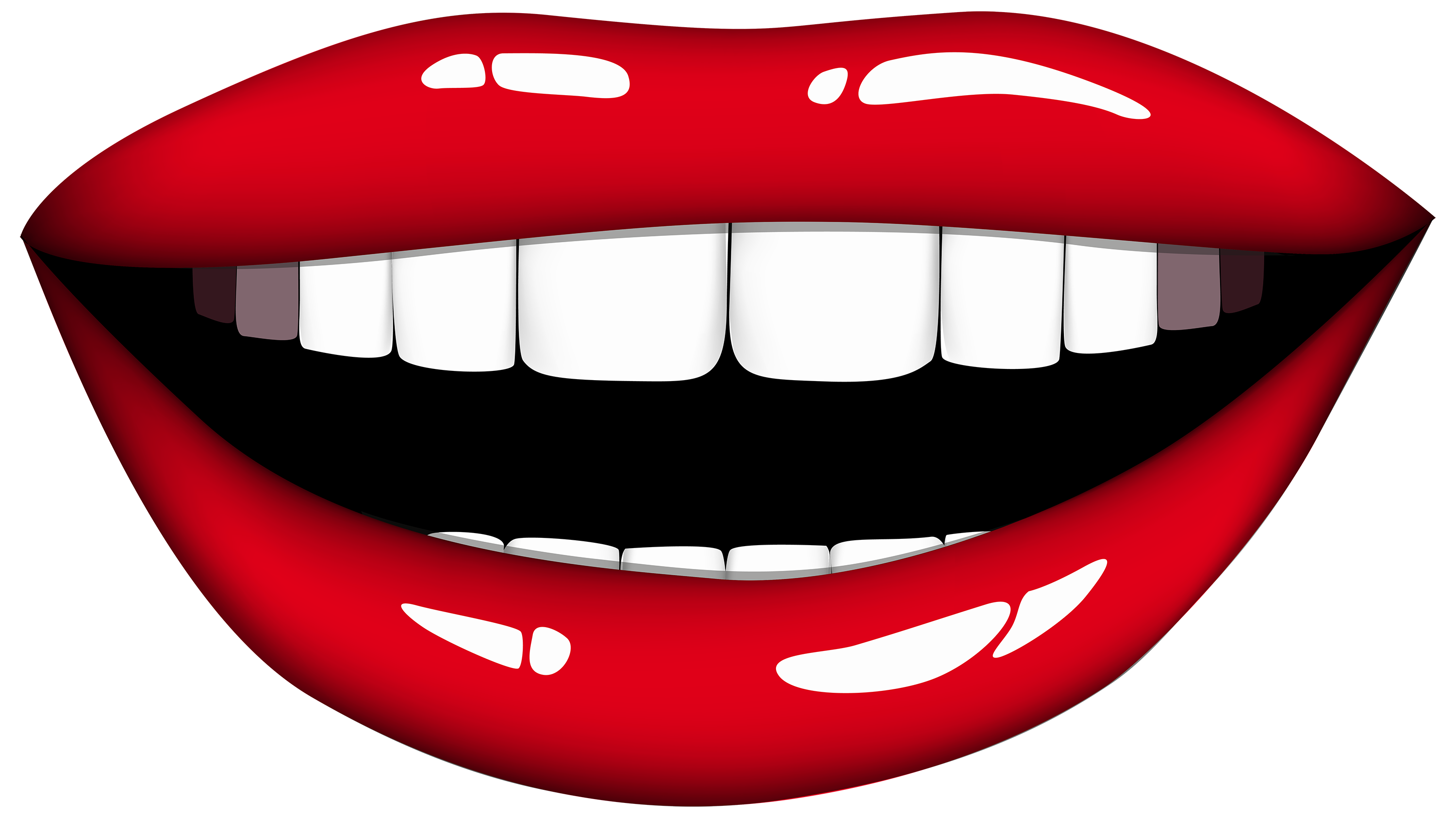 3000x1685 Smiling Mouth Png Clipart