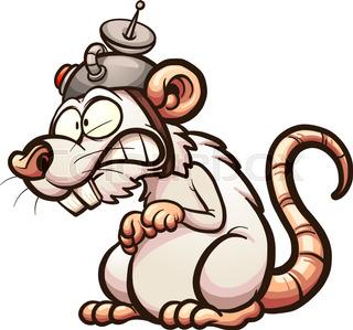 320x299 Scared Cartoon Rats Running Away. Vector Clip Art Illustration