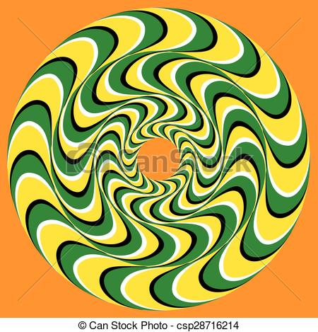 450x469 Hypnotic Swirly Sphere. Optical Illusion Background. Swirl