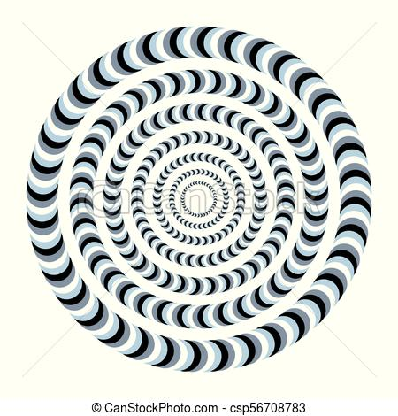 450x470 Unreal And Hypnotic Optical Illusion. Creative Trick And Vector
