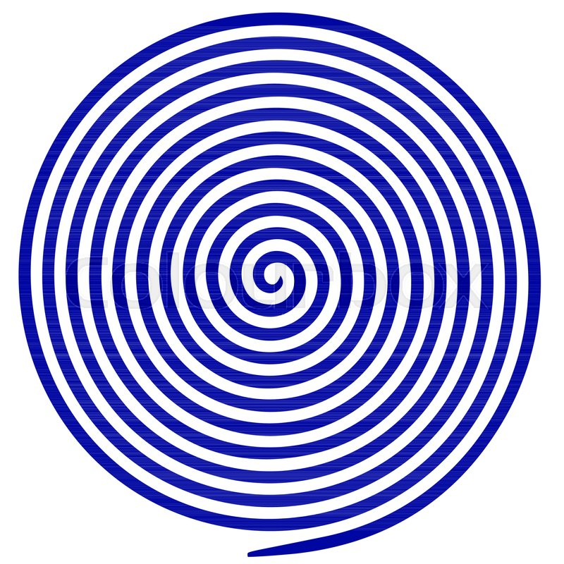 800x800 Blue And White Round Abstract Vortex Hypnotic Spiral. Vector