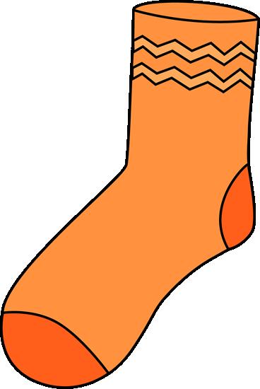 368x550 Orange Sock Clip Art