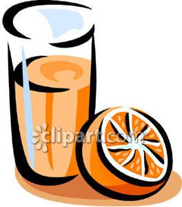 264x300 Orange And Glass Of Orange Juice