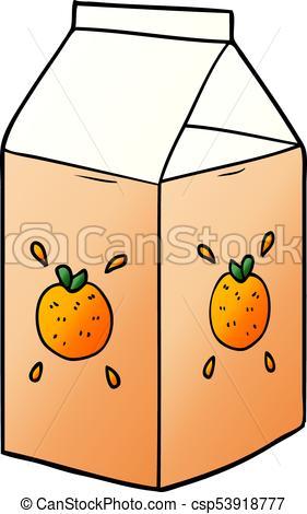 281x470 Cartoon Orange Juice Carton Vectors Illustration