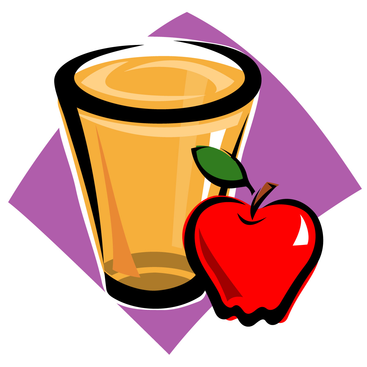 1200x1200 Clip Art Apple Juice Clip Art