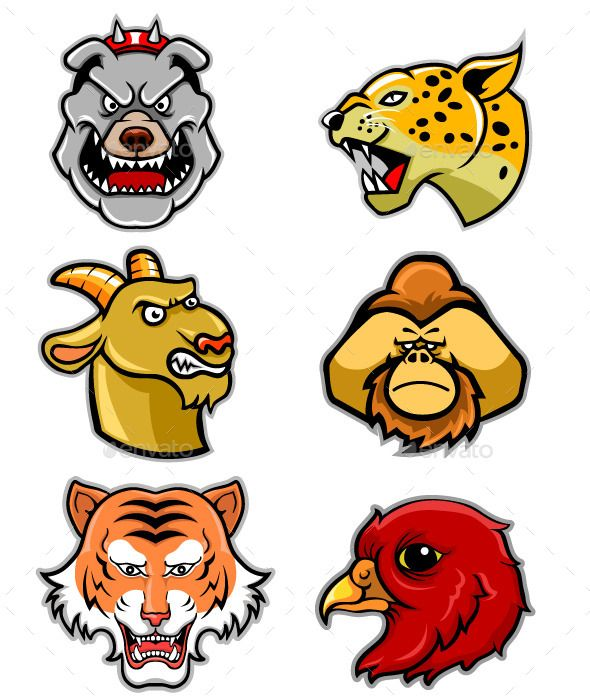 590x700 Animal Head Vectorstock 1 Animal Heads, Animal And Font Logo