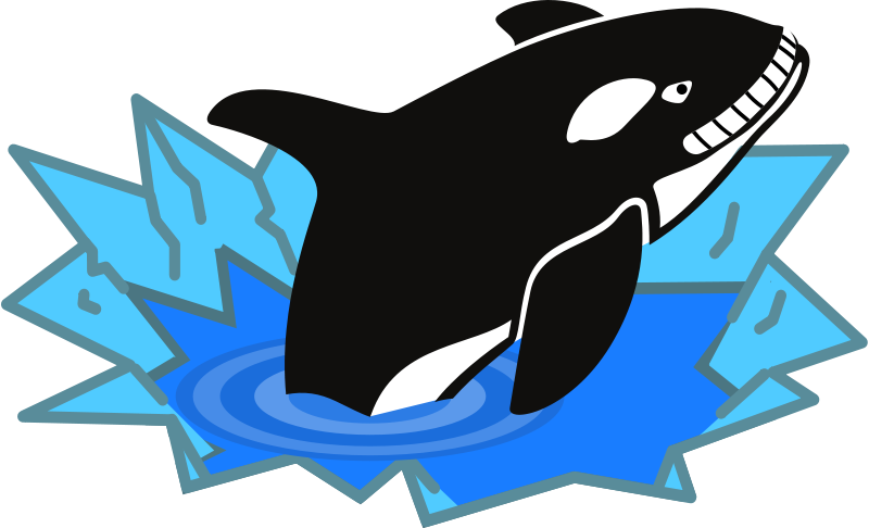 800x486 Free Clipart Evil Orca Cartoon Looking And Smiling With Teeth