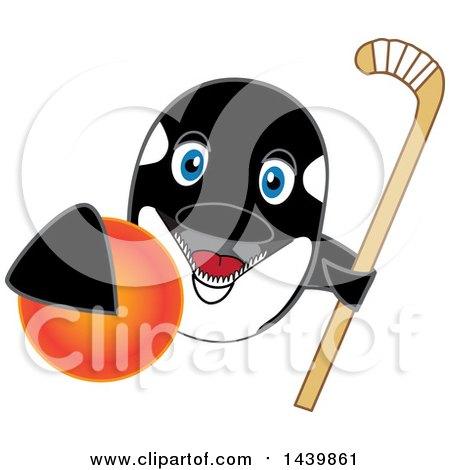 450x470 Clipart Of Killer Whale Orca School Mascot Character Grabbing