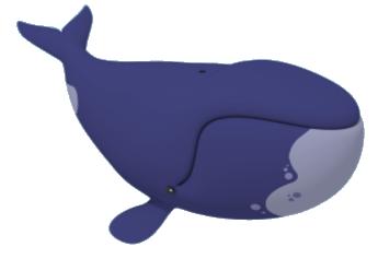 345x237 Blue Whale Clipart Purple