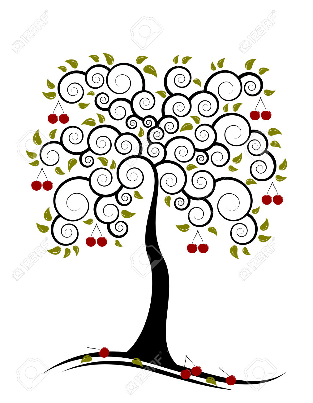 1012x1300 Cherry Tree Clipart Fruit Orchard