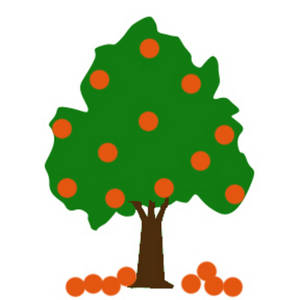 300x300 Free Clipart Picture Of An Orange Tree