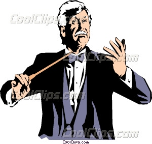 300x283 Conductor Leading Orchestra Vector Clip Art