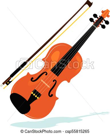 385x470 Illustration Of Violin With Bow Philharmonic Orchestra Clip Art