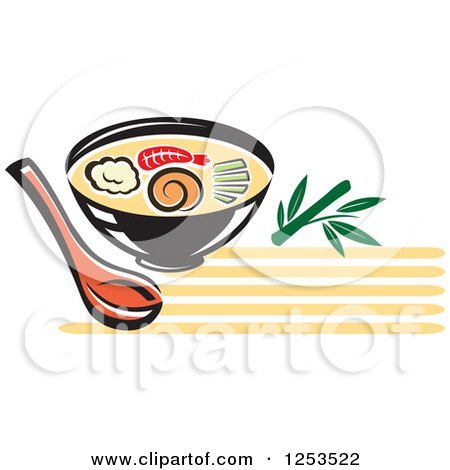 450x470 Clipart Of A Bowl Of Oriental Soup