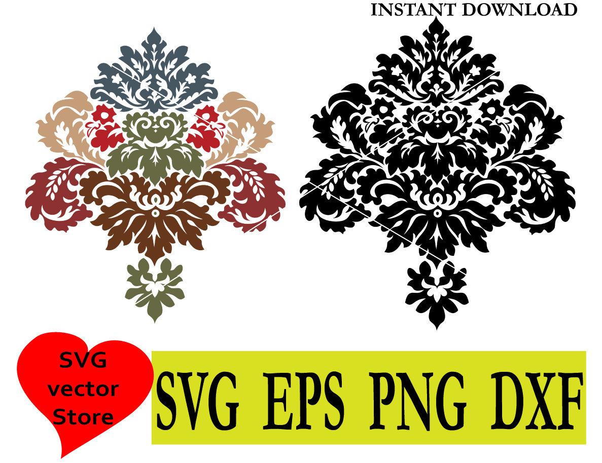 1187x914 Damask Flourish Lace Svg Cricut File Vector Clip Art Medallion