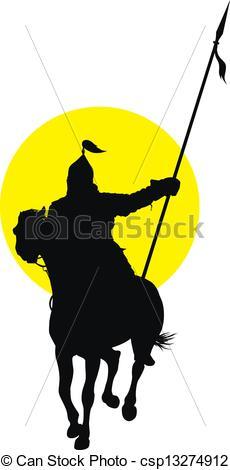 230x470 Oriental Horseman. Medieval Oriental Warrior On Horseback