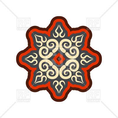 400x400 Arabic Ornament. Oriental Decorative Rosette. Royalty Free Vector