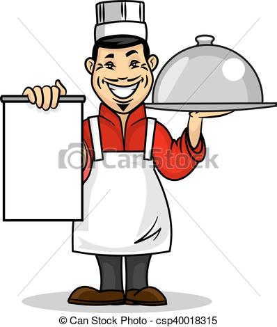 398x470 Asian Restaurant Chef. Menu Card Template. Oriental Kitchen