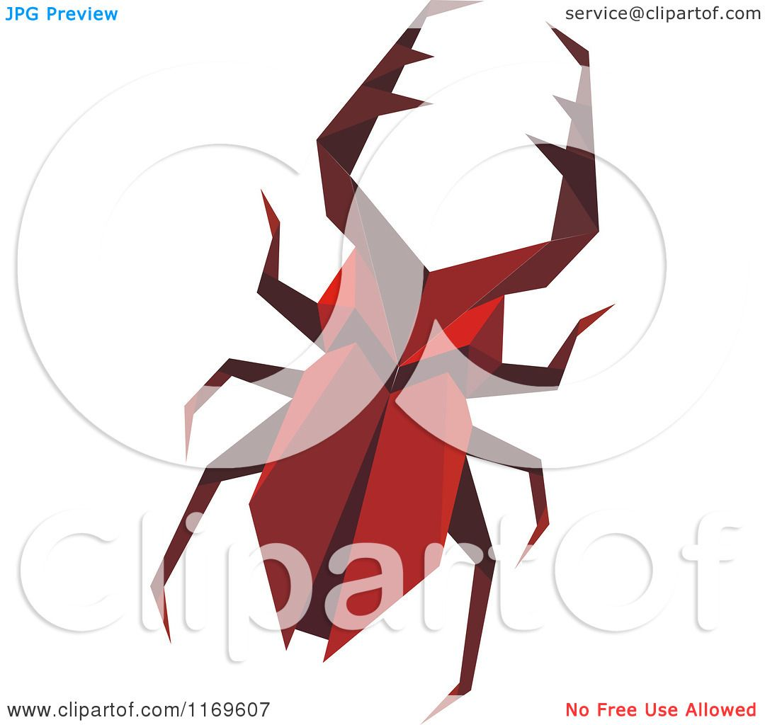 1080x1024 Clipart Of An Origami Stag Beetle