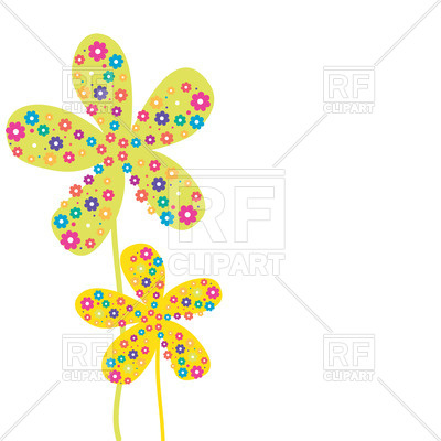 400x400 Cartoon Simple Flower Ornate With Floral Ornament Royalty Free