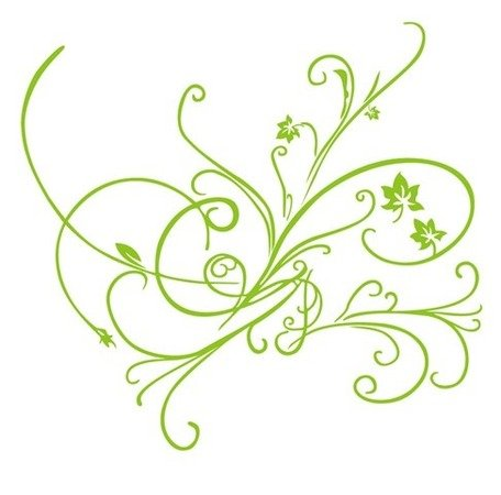 456x450 Free Green Vector Floral Ornament Clipart And Vector Graphics