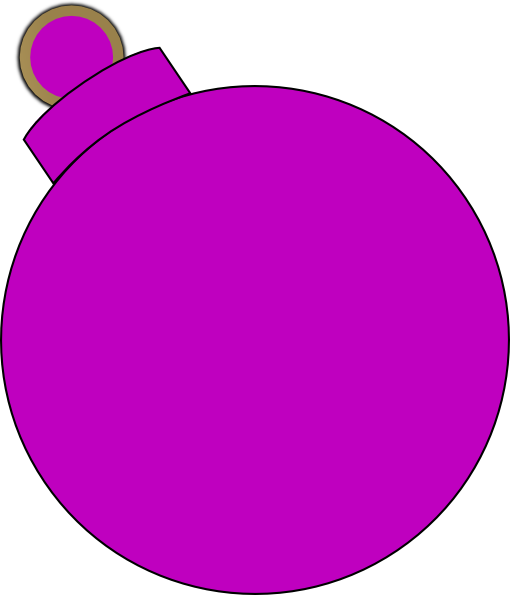 510x595 Pink Ornament Clip Art