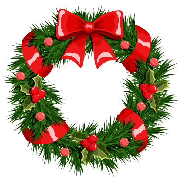 600x593 Transparent Christmas Wreath Png Clipart Narodzenie