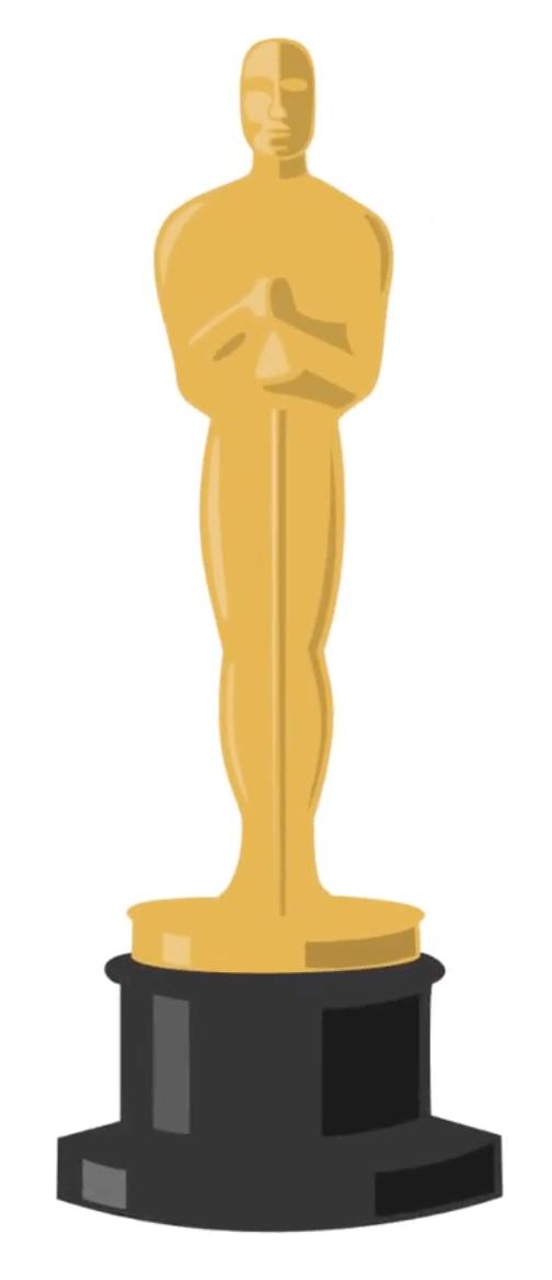 504x1168 Oscar Award Statue Clip Art