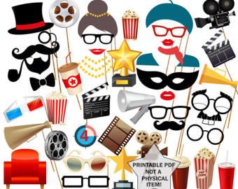 340x270 Instant Download Digital Movie Clip Art Movie Clipart Movie